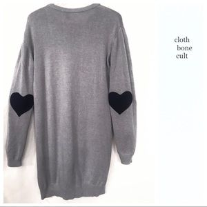 ASOS 🖤Heart Elbow Patch SWEATER-TUNIC